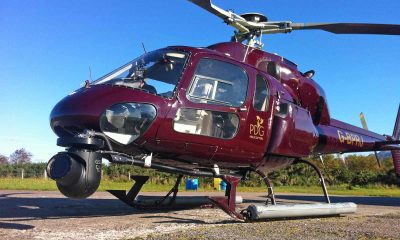 GSS C516 camera system fitted to Airbus AS355 twin squirrel Helicopter for filming with the Royal Navy