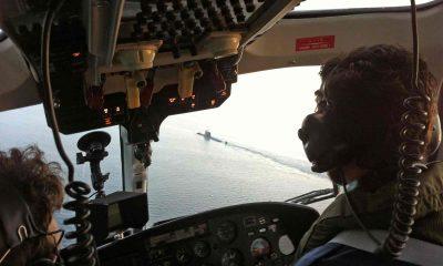 Pilots view of the HMS Ambush Royal Navy aerial filming