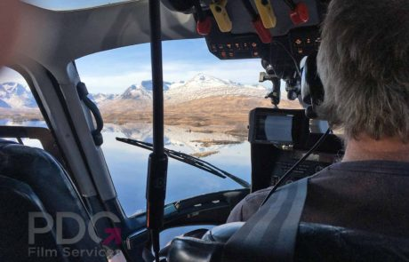 Aerial filming at Rannoch Moor