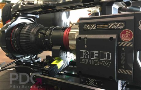 Red Epic-W fitted with Canon CN7 lens prior to installing into our Shotover F1